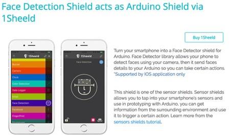 Detección de caras como escudo Arduino