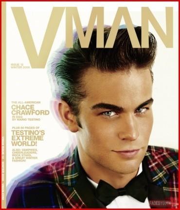 Chace Crawford en la revista VMan