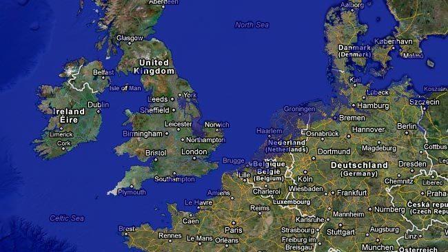 Aspecto de los Países Bajos si subiera el nivel del mar