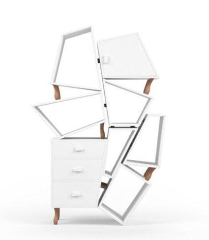 Muebles de almacenaje deconstruidos