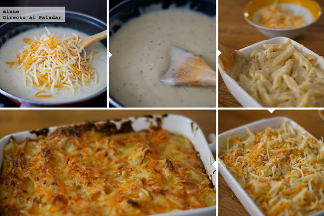 Macarrones con queso al estilo americano - elaboración