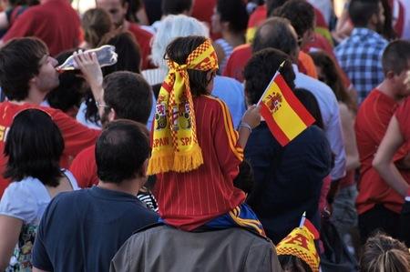 España progresa adecuadamente en la Eurocopa 2012 y los chavales están encantados con los jugadores