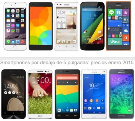 ¿Buscas smartphone por debajo de las 5 pulgadas? Estos son los precios que encontrarás en enero