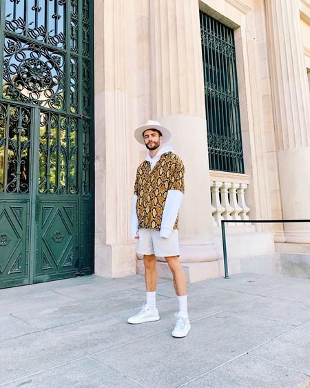 Prince Pelayo Diaz Short Ancho Pantalon Corto Trendencias Hombre Street Style 05
