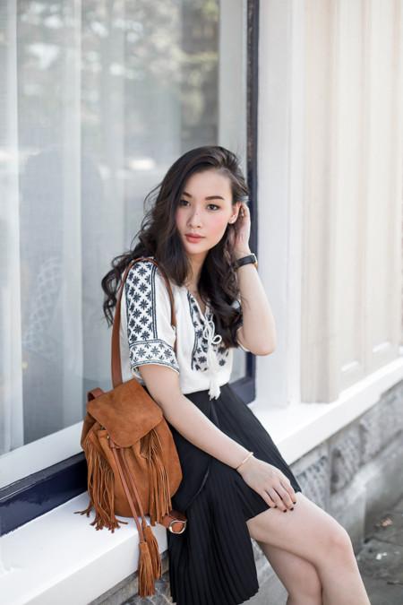 Las faldas con tablas son la nueva tendencia viral ¡y las bloggers ya las lucen!