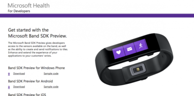 Llega la SDK de desarrollo de Microsoft Band para Android y Windows Phone
