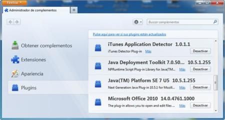 Desactivar Java en Firefox