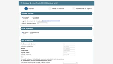 Formulario Certificado COVID