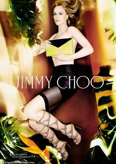 Nicole Kidman para Jimmy Choo, exceso de photoshop ¡pero si no parece ella!