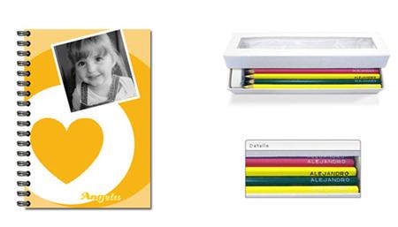 Lápices y cuadernos personalizados