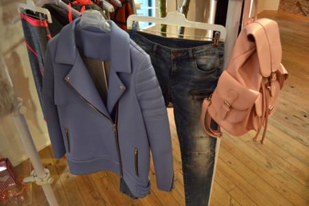 Azul abrigo bershka autumn coleccion 2014