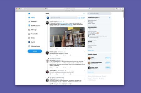 Twitter lanza un nuevo rediseño de su web con funciones heredadas de las apps móviles y un modo oscuro puro