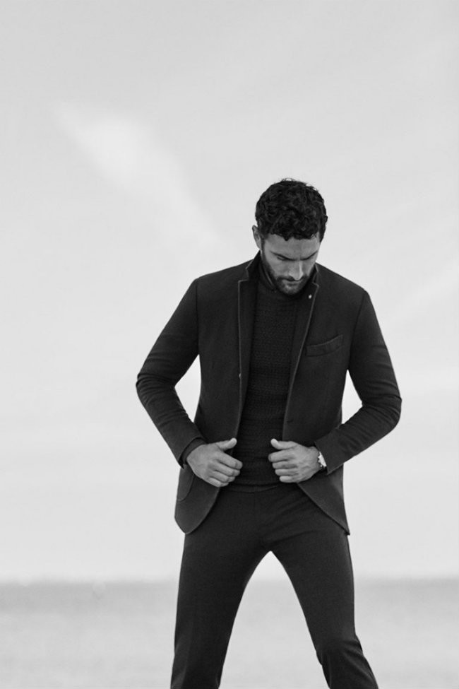 Noah Mills Massimo Dutti Fall Winter 2016 Eveningwear Lookbook 003