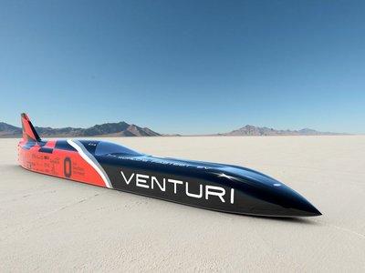 El eléctrico más rápido es un Venturi, y con 3.000 CV el récord de 548,78 km/h no es suficiente