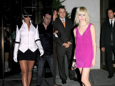 Rihanna y Taylor Momsen en el cumpleaños de Allegra Versace