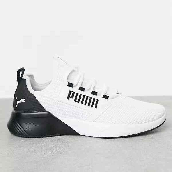Zapatillas de deporte blancas y negras para correr Retaliate de Puma
