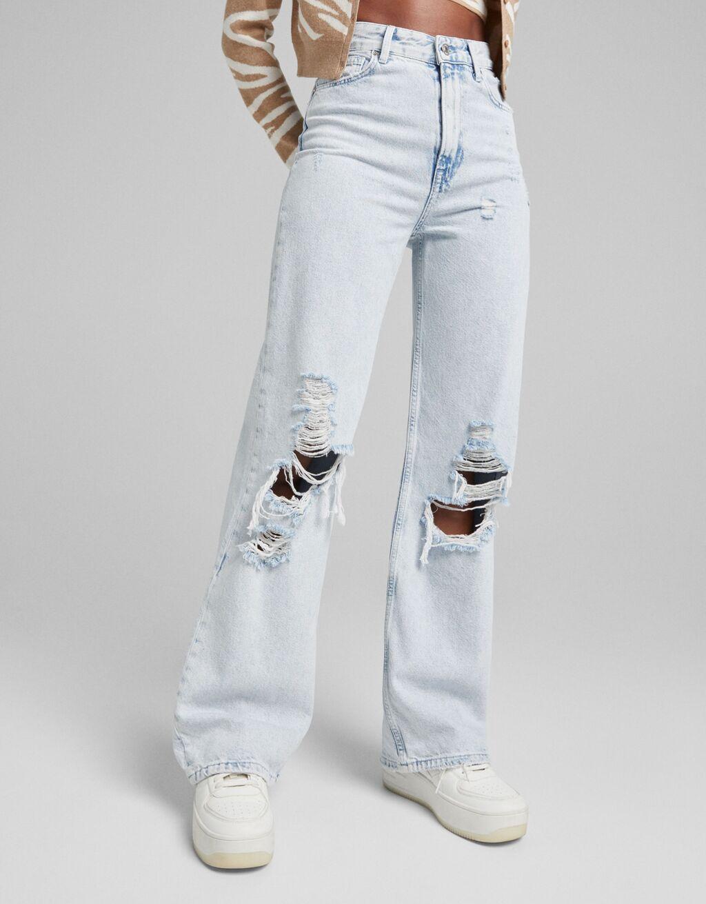 Jeans wide leg 90´s rotos