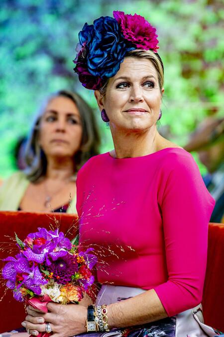 Máxima de Holanda con un llamativo look en honor a Frida Kahlo