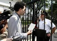 Borat visitó la Casa Blanca