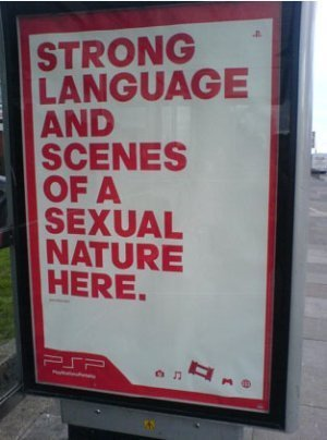 Anuncio de PSP promueve lenguaje obsceno y sexo