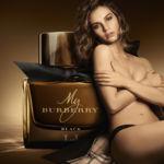 Lily James sigue los pasos de las modelos británicas Kate Moss y Cara Delevigne prestando su rostro para la promoción de la fragancia My Burberry Black