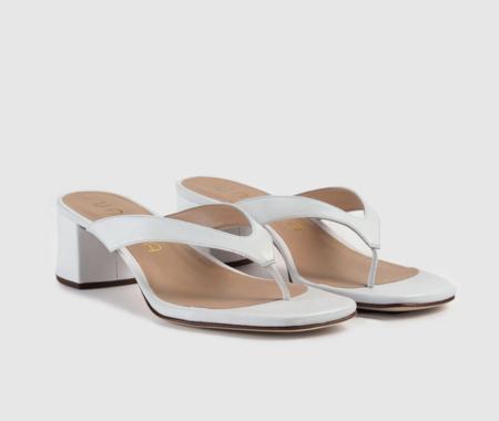 Sandalias De Tacon De Muejr Unisa De Piel En Color Blanco