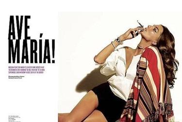 Daria Werbowy encarna a María Félix para V Magazine