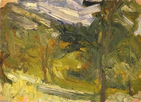 Richard Gerstl estudio de paisaje