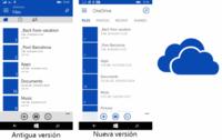 OneDrive para Windows Phone cambia su interfaz para ser más consistente con Modern UI