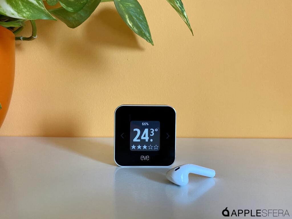 Eve Room, el pantalla HomeKit de temperatura, humedad y calidad del aire de vuestro hogar