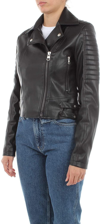 Calvin Klein Faux Leather Biker Jacket Chaqueta para Mujer