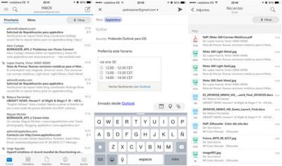 Outlook para iOS/Android ofrece una mejor búsqueda y vista de contactos en su última actualización