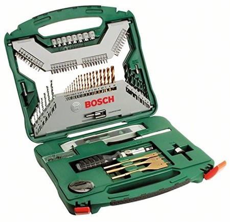 Todos los accesorios necesarios para taladrar y atornillar están por 35,83 euros en el maletín Bosch X-Line Titanio 100 unidades