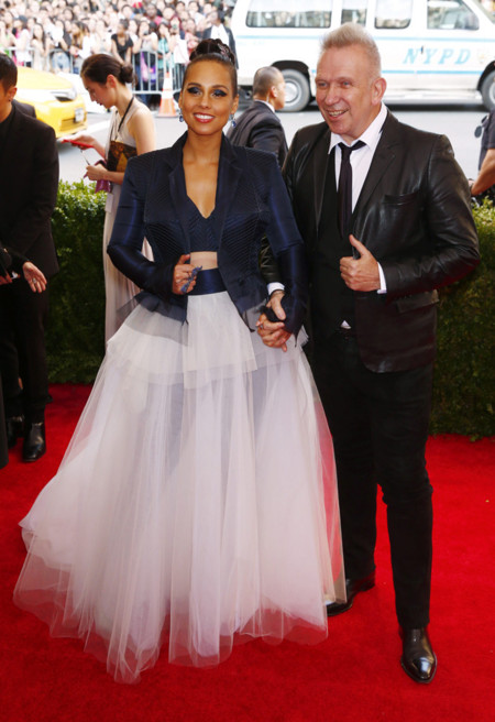 Alicia Keys y Jean Paul Gaultier