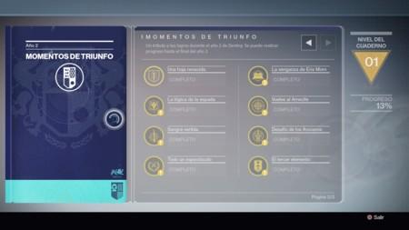 Momentos De Triunfo Ano 2 Destiny 1