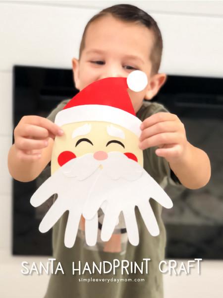 Manualidades Navidad Papa Noel Manos