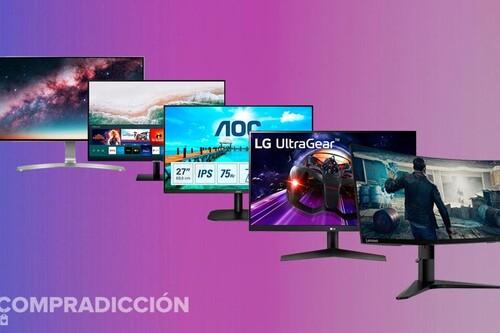 15 monitores en oferta en esta nueva selección de Amazon: modelos de 24 a 55 pulgadas de Philips, LG, Samsung, Acer o AOC a precios superrebajados