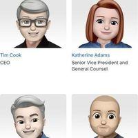 Los ejecutivos de Apple se visten de Memojis en su sitio web oficial