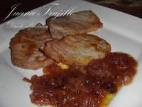 Lomo de cerdo con cebolla caramelizada al oporto. Receta