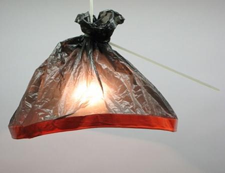 Una mala idea: lámparas hechas con bolsas de plástico