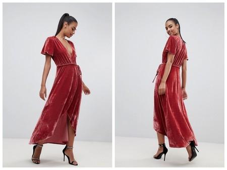 Vestido Terciopelo Rosa