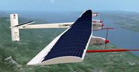 Un avión impulsado con energía solar