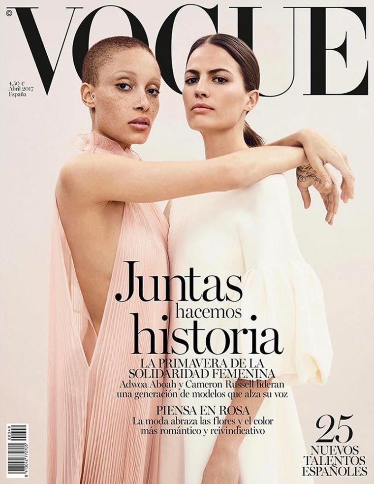 Vogue España: Adwoa Aboah y Cameron Russell