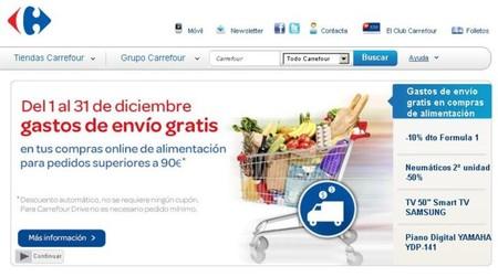 En Carrefour gastos de envío gratuitos para las compras online de alimentación
