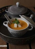 Sopa de pollo al curry. Receta