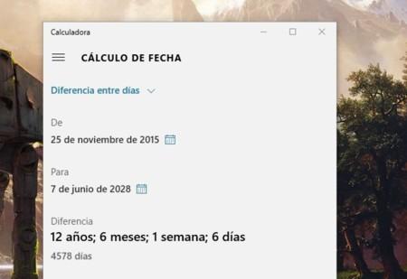 Calculadora de Windows 10 ahora puede calcular directamente la diferencia entre fechas