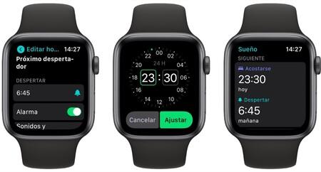 configurar sueño Apple Watch
