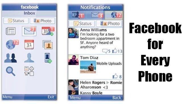 Anunciado el lanzamiento de Facebook for Every Phone