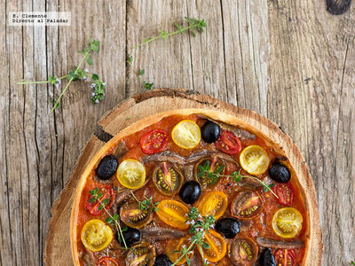 Tarta de tomates y anchoas: receta