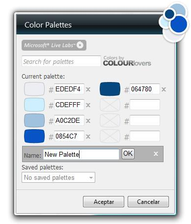 Color Palettes para la Sidebar de Vista